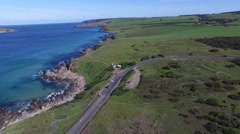 Track Left Petrel Cove at the Bluff Encounter Bay Stock Footage