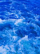 Stock Photo of powerful stream of clean blue water