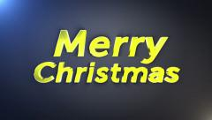 Merry Christmas Gold Text, with Alpha Channel, Loop, 4k - stock footage