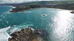 Aerial of Horseshoe Bay, from Pullen Island Stock Footage