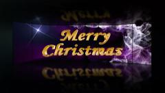 Merry Christmas, Text in Monitors with Green Screen, 4k - stock footage