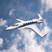 3d model of Space Eagle concept jet