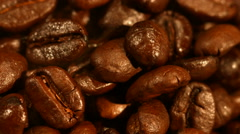 Coffee beans closeup Stock Footage
