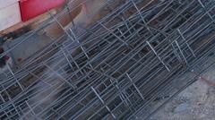 Close up shot. Bricklaying - 2 shot Stock Footage