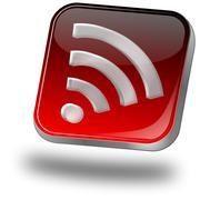 wireless WiFi Wlan button - stock illustration