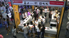 Photo Fair 2015 Between 25-29 November 2015 at BITEC Stock Footage