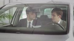 Successful deal in car dealership Stock Footage