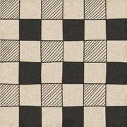 Hand drawn abstract chessboard pattern. - stock illustration