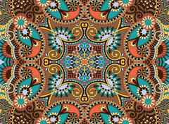 Ethnic horizontal authentic decorative paisley pattern for your Stock Illustration