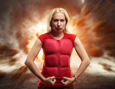 Strong healthy woman - stock photo