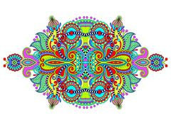Stock Illustration of ethnic horizontal authentic decorative paisley pattern for your