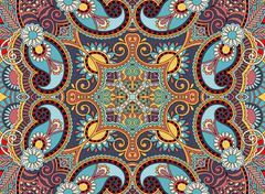 ethnic horizontal authentic decorative paisley pattern for your - stock illustration