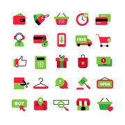 E-Commerce And Shopping Icons Set Stock Illustration