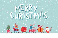 Stock Illustration of Santas Express illustration