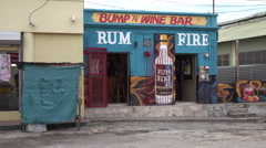 Falmouth Jamaica neighborhood local rum wine bar 4K Stock Footage