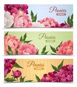 Stock Illustration of Flower Banners Set