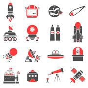 Space Icons Set Stock Illustration