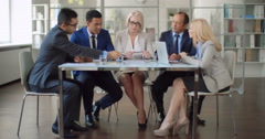Effective Business Meeting Stock Footage