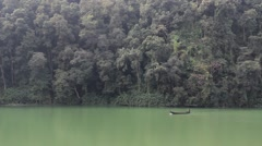 Lonely boat in the Nepalese jungle Stock Footage