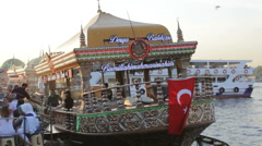 Fish Boat, ISTANBUL, TURKEY  Stock Footage
