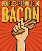Peoples Republic of Bacon - stock illustration