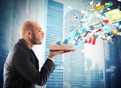 Business knowledge - stock photo