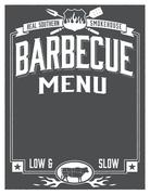 Real Southern Barbecue Menu Template - stock illustration
