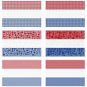 Mosaic Netherlands flag set - stock illustration