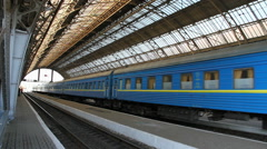 View of Railway station in Lviv. Stock Footage