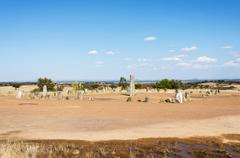 Menhir stones in Portugal - stock photo