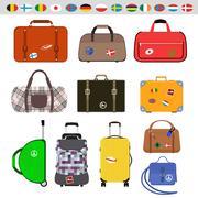 Travel bags vector illustration Stock Illustration
