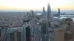 Manama City at dusk, Bahrain - stock footage