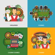 Casino Concept Icons Set Piirros