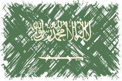 Stock Illustration of Saudi Arabian grunge flag. Vector illustration