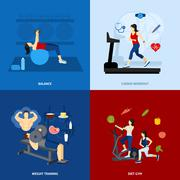 Stock Illustration of Gym Workout People