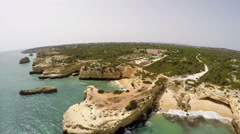 Aerial Footage Praia de Albandeira - Caramujeira, Lagoa, Algarve Stock Footage