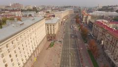 Stock Video Footage of Khreshchatyk–main street of Ukraine's capital and City Council Building