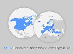 NATO member countries Stock Illustration