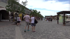 Jamaica Falmouth Caribbean cruise ship arrival area 4K Stock Footage