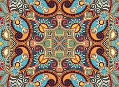 Ethnic horizontal authentic decorative paisley pattern for your Stock Illustration