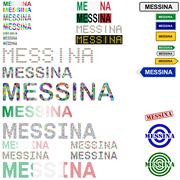 Stock Illustration of Messina text design set