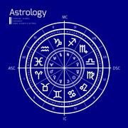Astrology vector background - stock illustration