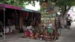 Jamaica Falmouth Caribbean tourist Souvenir shops 4K Stock Footage