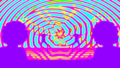 Psychedelic Funk Dance Stock Footage