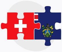 Switzerland and Pitcairn Islands - stock illustration