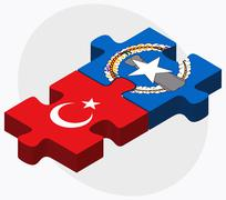 Turkey and Northern Mariana Islands Stock Illustration