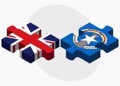 United Kingdom and Northern Mariana Islands Flags i - stock illustration