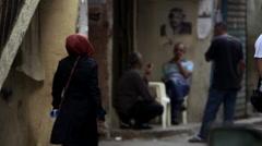Street scene in Beirut, Lebanon Stock Footage