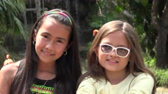 Childhood Friends in Outdoors Stock Footage