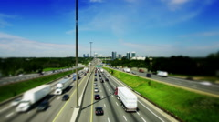 Motion-Photo (Cinemagraph) of a Large Highway Stock Footage